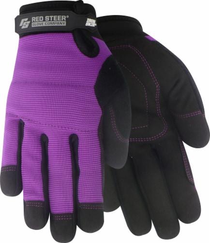 Red Steer Glove Company Ironskin Hi-Dex Gloves - Purple/Black Perspective: front
