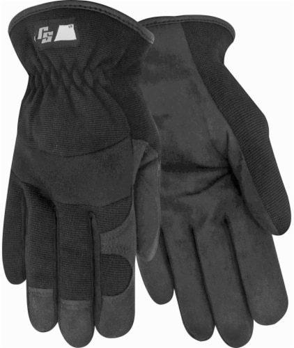 Red Steer Men's Ironskin Hi-Dex Work Gloves - Black Perspective: front