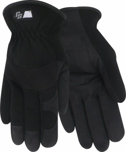 Red Steer Glove Company Ironskin Synthetic Leather Palm Drivers Glove - Black Perspective: front