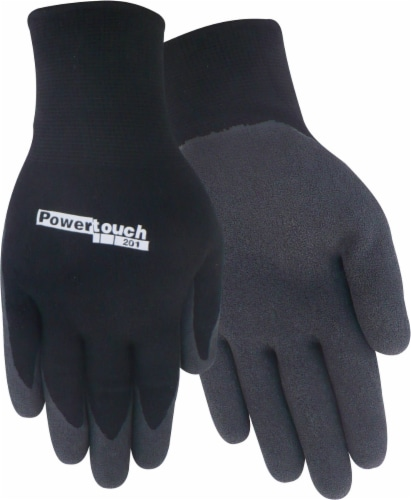 Red Steer Glove Company PowerTouch Rubber Palm Gloves - Black/Gray Perspective: front
