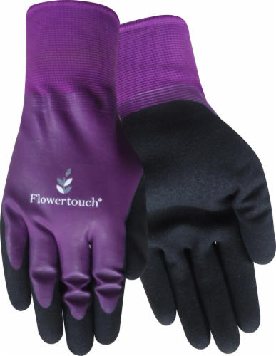 Red Steer Glove Company Flowertouch Women's Mud Gloves - Purple/Black Perspective: front