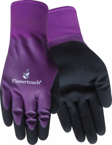 Red Steer Glove Company Flowertouch Women's Mud Gloves - Purple Perspective: front