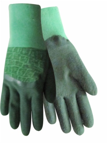 Red Steer Glove Company Zoo Hands Rubber Palm Kid's Gloves - Green Perspective: front