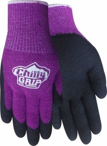Red Steer Glove Company Chilly Grip Dot Liner Women's General Utility Gloves - Purple Perspective: front