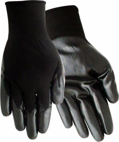 Red Steer Glove Company Nitrile Palm Gloves - Black Perspective: front