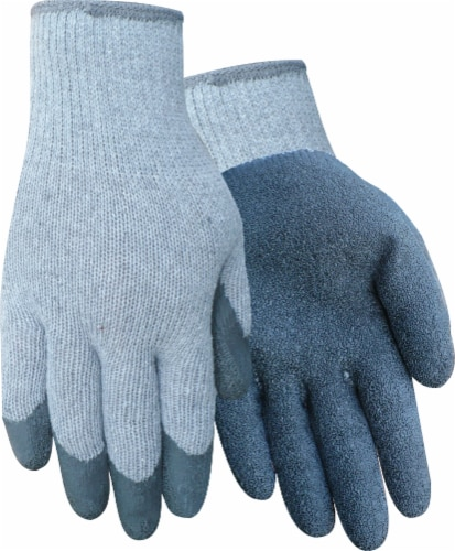 Red Steer Glove Company Rubber Palm Men's Gloves - 3 pk - Blue Perspective: front