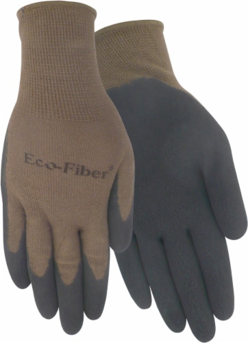 Red Steer Glove Company Eco-Fiber Bamboo Blend Rubber Palm Men's Gloves - Brown Perspective: front