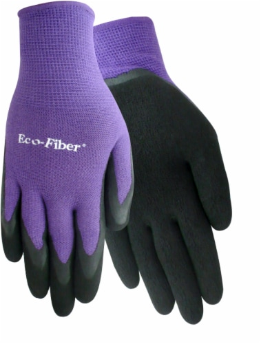 Red Steer Glove Company Eco-Fiber Bamboo Blend Rubber Grip Women's Gloves - Purple Perspective: front