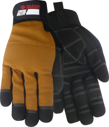 Red Steer Glove Company® Ironskin® Tradesman General Utility Gloves - Brown Perspective: front