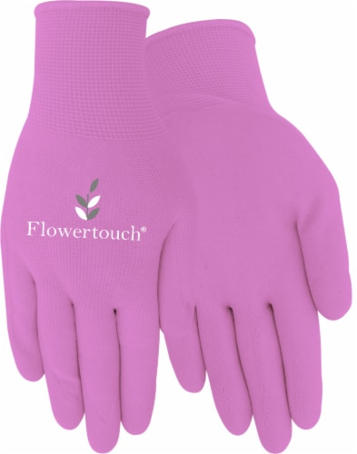 Red Steer Glove Company Flowertouch Foam Latex Women's Gloves - Pink Perspective: front