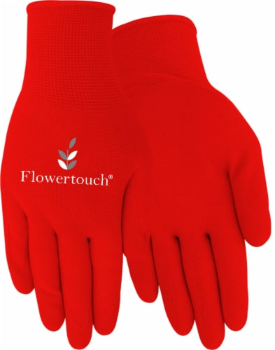 Red Steer Glove Company Womens Foam Latex Gloves - Pink Red Perspective: front