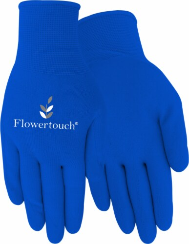 Red Steer Glove Company Foam Latex Palm Women's Gloves - Blue Perspective: front
