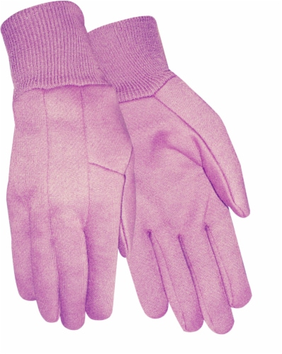 Red Steer Glove Company Women's Jersey Gloves - Pink Perspective: front
