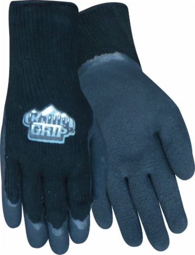 Red Steer Glove Company Chilly Grip Foam Latex Palm Gloves - Black Perspective: front