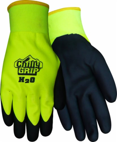 Red Steer Glove Company Chilly Grip Water Resistant General Utility Gloves - High Visibility Perspective: front