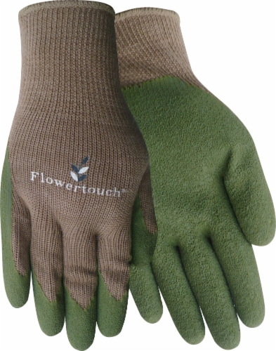 Red Steer Glove Company Flowertouch Rubber Palm Women's Gloves - Green Perspective: front