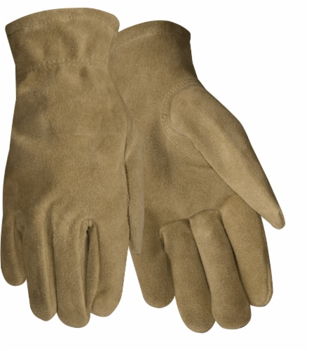Red Steer Glove Company Suede Cowhide Women's Driver Gloves - Brown Perspective: front