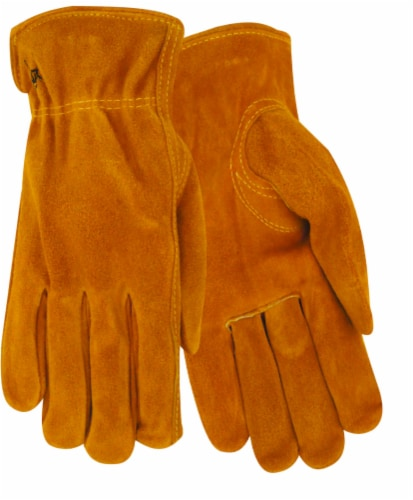 Red Steer Glove Company Lined Suede Cowhide Driver Gloves Perspective: front