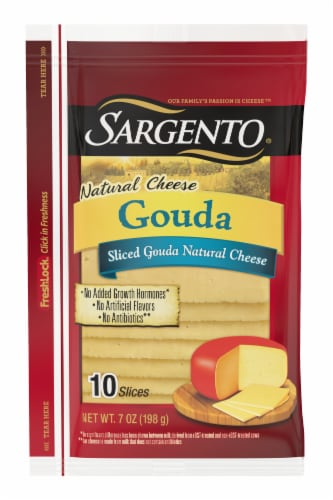 Sargento Natural Gouda Cheese Slices Perspective: front