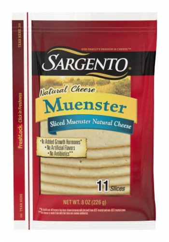Sargento Natural Muenster Cheese Slices Perspective: front