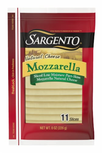 Sargento Natural Mozzarella Cheese Slices Perspective: front