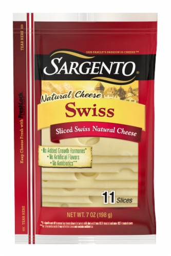 Sargento Natural Swiss Cheese Slices 11 Count Perspective: front