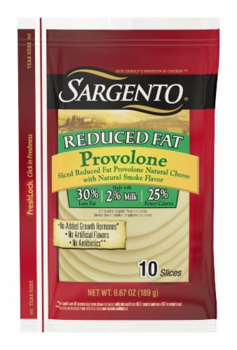 Sargento Reduced Fat Provolone Cheese Slices Perspective: front