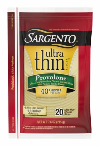 Sargento Ultra Thin Provolone Cheese Slices Perspective: front
