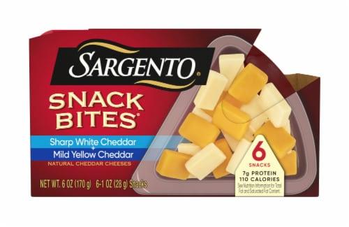 Sargento Sharp White Cheddar and Mild Cheddar Snack Bites Perspective: front