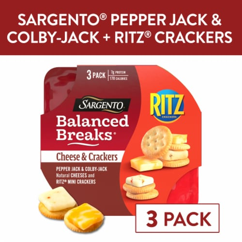 Sargento Balanced Breaks Pepper-Jack and Colby-Jack with Ritz Original Crackers Perspective: front