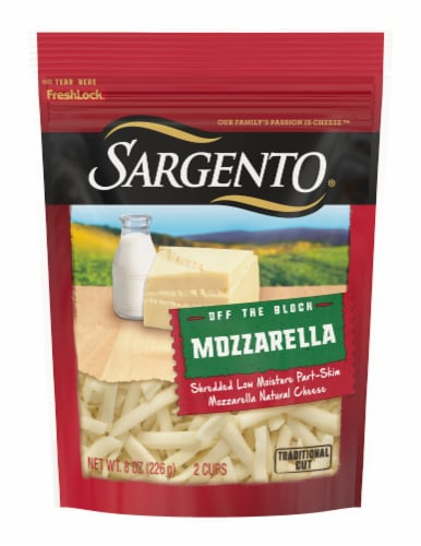 Sargento® Off the Block Shredded Mozzarella Cheese Perspective: front