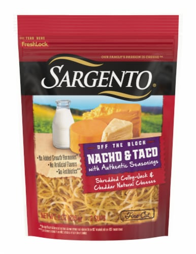 Sargento Off the Block Shredded Nacho & Taco Cheese Perspective: front