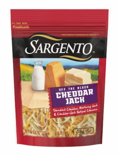 Sargento Cheddar Jack Shredded Cheese Perspective: front