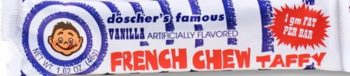 Doscher's Famous Vanilla French Chew Taffy Perspective: front