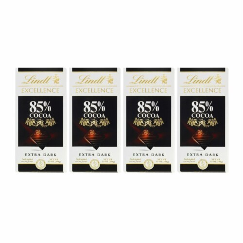 Lindt Excellence Bar (Dark Chocolate A Touch of Sea Salt), 3.5 Ounce Package - Pack of 4 Perspective: front