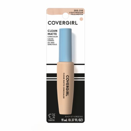 CoverGirl Ready Set Gorgeous 205-210 Light Medium Clean Matte Concealer Perspective: front