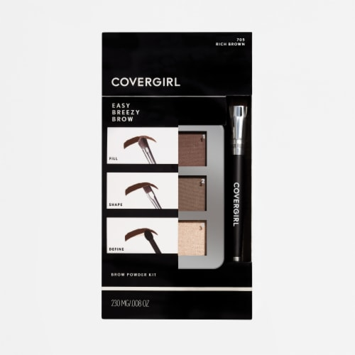 CoverGirl Easy Breezy Brow Rich Brown 705 Brow Powder Kit Perspective: front