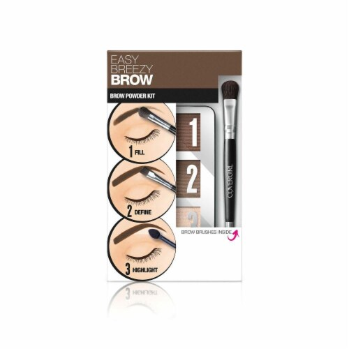 CoverGirl Easy Breezy Brow Soft Brown 710 Brow Powder Kit Perspective: front