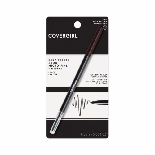 CoverGirl Easy Breezy Brow Rich Brown Pencil Crayon Perspective: front