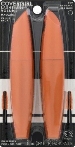 CoverGirl LashBlast Very Black 800 Volume Mascara Twin Pack Perspective: front