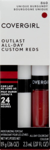 CoverGirl Outlast All-Day Custom Reds 860 Unique Burgundy Lip Gloss Perspective: front