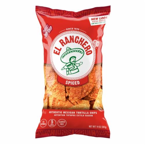 El Ranchero Mild Hot Tortilla Chips Perspective: front
