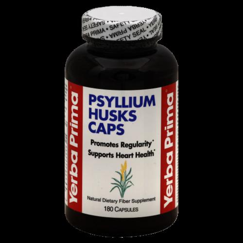 Yerba Prima Psyllium Husks Capsules Perspective: front