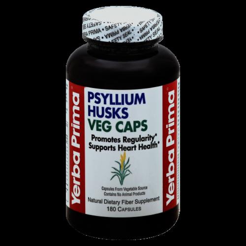 Yerba Prima Psyllium Husks Veg Capsules Perspective: front