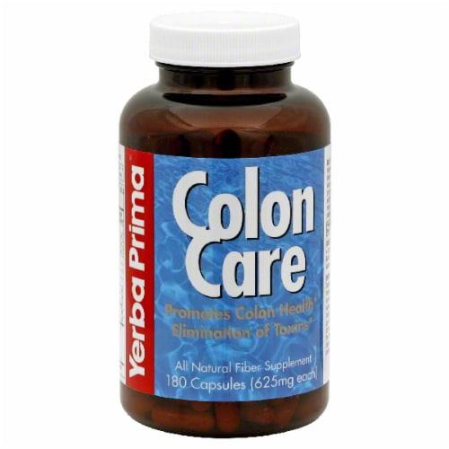 Yerba Prima Colon Care Supplement Perspective: front