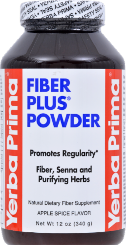 Yerba Prima Apple Spice Flavor Fiber Plus Powder Perspective: front