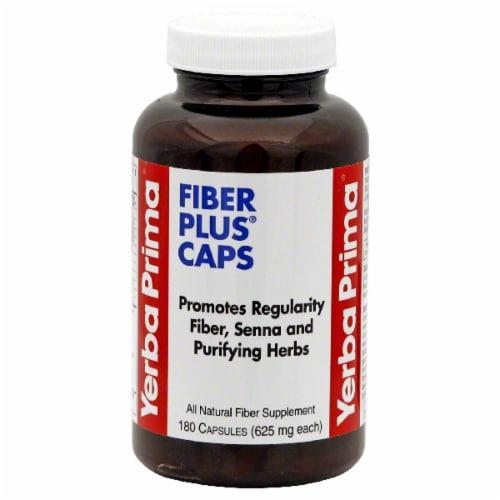 Yerba Prima Fiber Plus Capsules Perspective: front