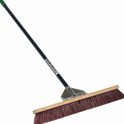 Seymour Midwest Push Broom,Head and Handle,24 ,Brown  82925GRA Perspective: front