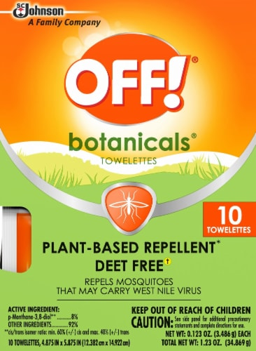 Off!® Botanicals Plant-Based Repellent Towelettes Perspective: front
