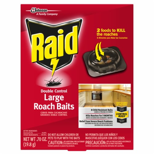 Raid® Double Control Large Roach Baits Perspective: front